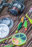 Fishing tackle spinning Royalty Free Stock Photo
