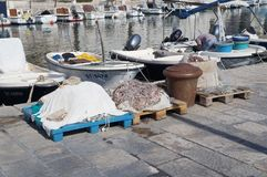 Fishing tackle in Split Royalty Free Stock Photography