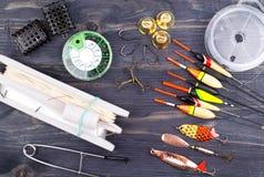 Fishing tackles on Royalty Free Stock Image