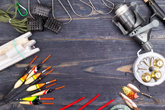 Fishing tackles on Royalty Free Stock Photography
