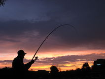 Fishing in teh morning Royalty Free Stock Photo