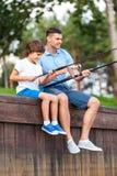 Fishing together. Stock Image
