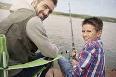 Fishing together Royalty Free Stock Image