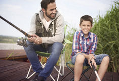 Fishing together Stock Image