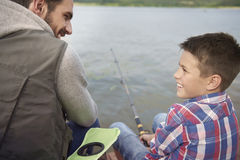 Fishing together Stock Images