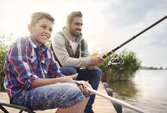 Fishing together Royalty Free Stock Photos
