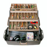 Fishing tool box Royalty Free Stock Photos