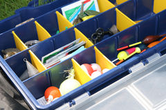 Fishing tool box Stock Photo