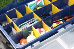 Fishing tool box stock photo