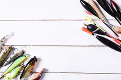 Fishing tools Royalty Free Stock Images