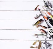 Fishing tools Royalty Free Stock Photo