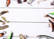 Fishing tools Stock Photos
