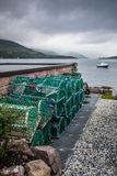 Fishing tools near the coast. In Ullapool, Scotland Royalty Free Stock Photos