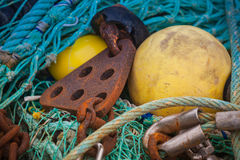 Fishing tools Stock Photos