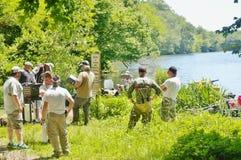Fishing tournament  2015 bludenburgh lake Stock Photos