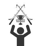 Fishing tournament design Royalty Free Stock Photos