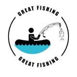 Fishing tournament design Royalty Free Stock Image