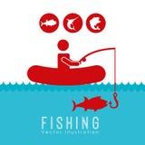 Fishing tournament design Stock Photography