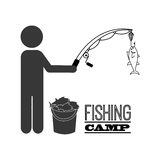 Fishing tournament design Royalty Free Stock Photography