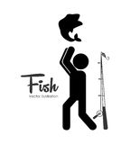 Fishing tournament design Stock Photos