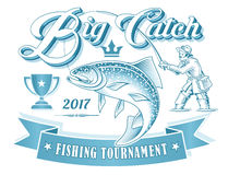 Fishing Tournament Vector Logo Stock Photos