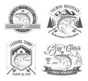 Fishing Tournament Vector Logos Royalty Free Stock Photos