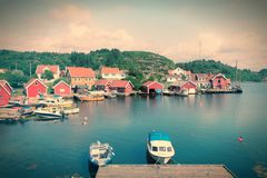 Fishing town in Norway Royalty Free Stock Photo