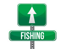 Fishing traffic road sign Royalty Free Stock Photo