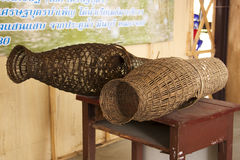 Fishing trap made from bamboo wood Royalty Free Stock Photo