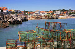 Fishing Traps. In a port of Cascais, Portugal Royalty Free Stock Photography