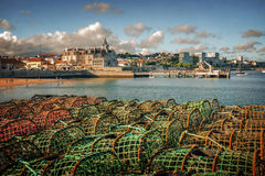 Fishing Traps In Cascais Stock Images