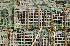 Fishing Traps. Old crab and  lobster fishing traps Stock Images