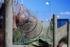 Fishing Traps Royalty Free Stock Photo