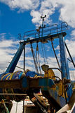 Fishing trawler. Seen from the stern Royalty Free Stock Image
