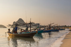 Fishing trawler on the  beach Royalty Free Stock Photography