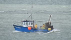 Fishing trawler boat stock footage