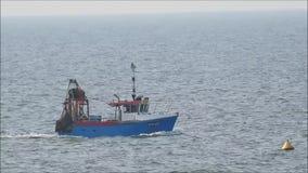 Fishing trawler business stock video