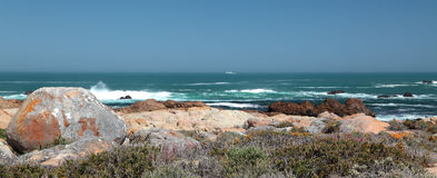 Fishing trawler on the horizon Royalty Free Stock Photo