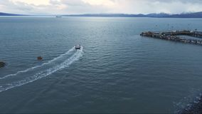 Fishing Trawler Kachemak Bay Homer Alaska Nautical Marine Vessels stock video footage