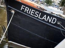 Fishing trawler named Friesland Stock Images