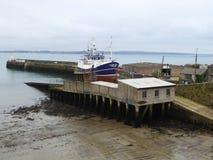 Fishing trawler on slipway Stock Image