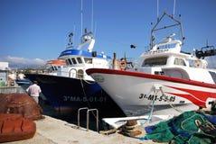 Fishing trawlers, Caleta de Velez. Stock Images