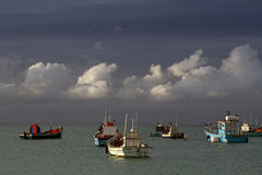 Fishing trawlers at Struisbaai harbour Royalty Free Stock Photos