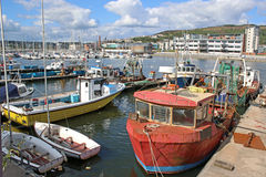 Fishing Trawlers. In Swansea harbour Stock Photos