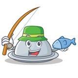 Fishing tray character cartoon style Stock Photos