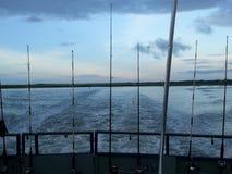 Fishing trip. Deep sea fishing beautiful morning Royalty Free Stock Photo