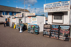 Fishing Trip Huts Royalty Free Stock Photos