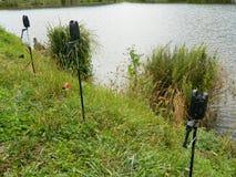 Fishing tripods Stock Photo