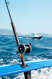 Fishing trolling tuna in the Andaman Sea. Thailand Royalty Free Stock Photo
