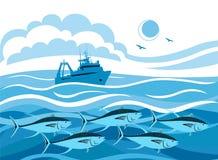 Free Fishing Tuna In The Sea Royalty Free Stock Photos - 184237218